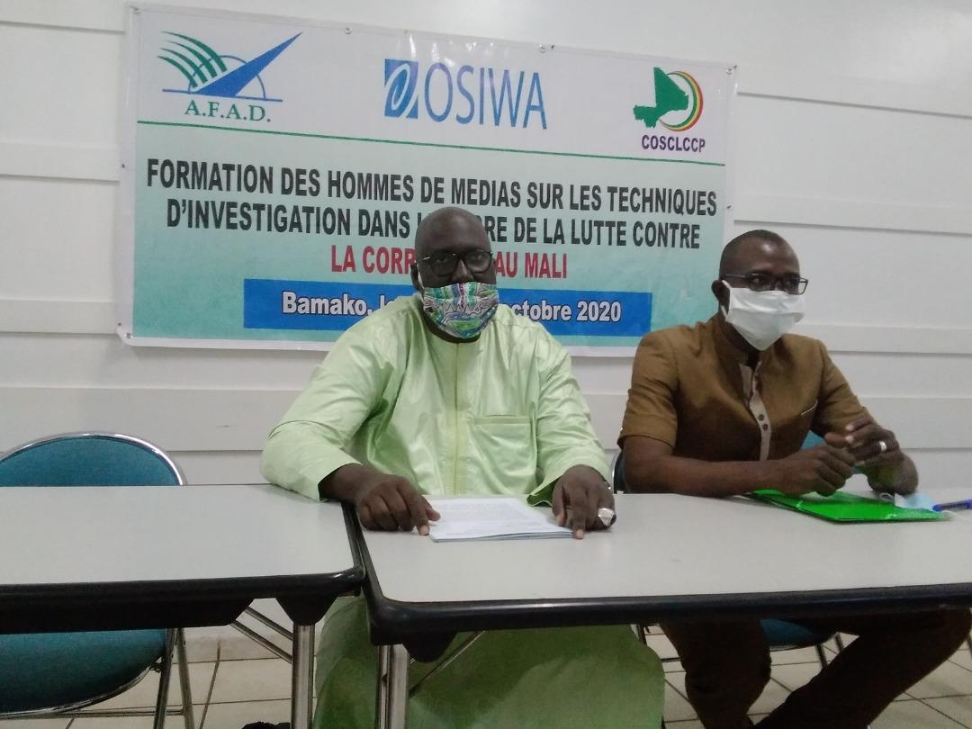 Lutte contre la corruption au Mali : une vingtaine d'hommes de médias outillée sur les techniques du journalisme d'de investigation
