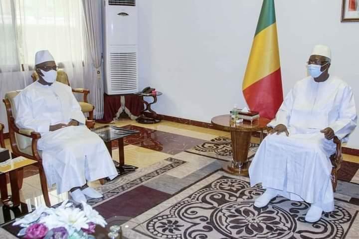 MALI: Le Chef de l'État reçoit le Président sortant de la Commission de l'UEMOA